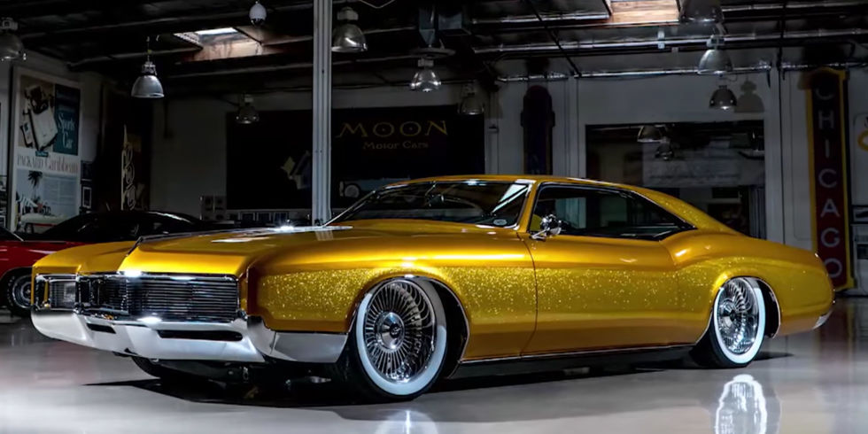 Eye-Popping Gold Flaked 1966 Buick Riviera is One Custom Beauty Queen