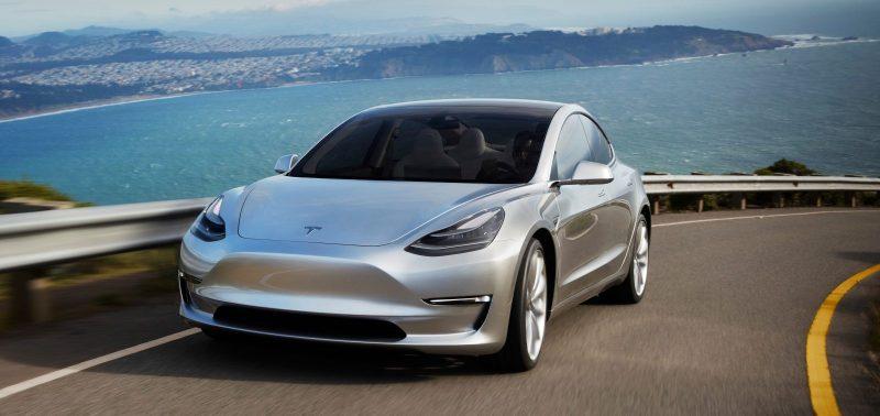 Tesla Model 3 frontal view