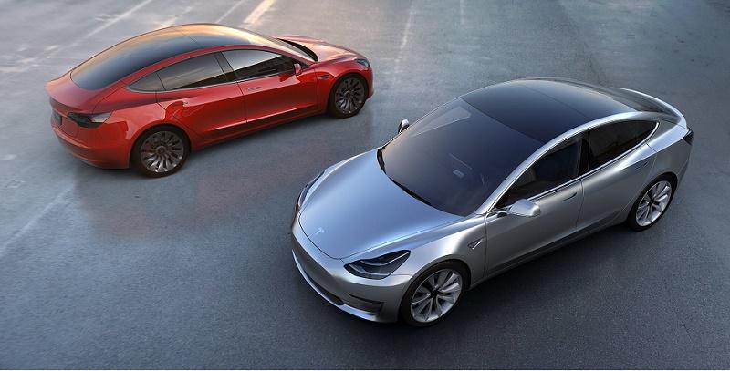 Tesla Model 3 Rendering