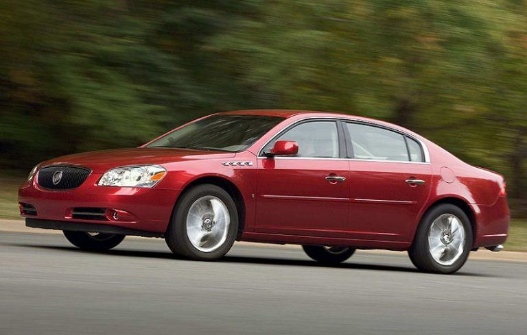 A red Buick Lucerne