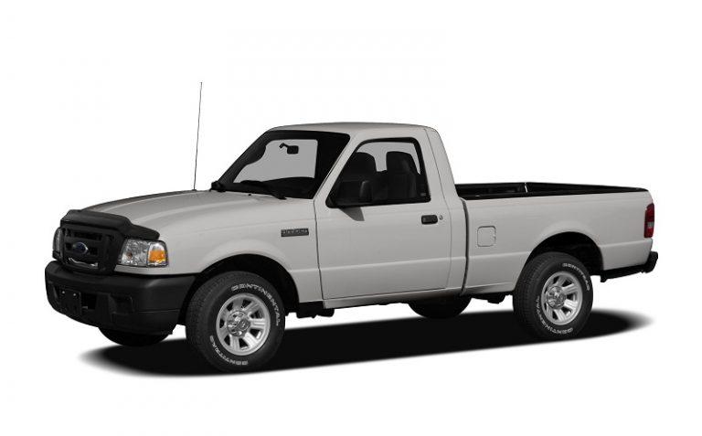A white Ford Ranger