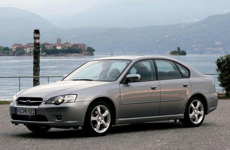 A grey Subaru Legacy