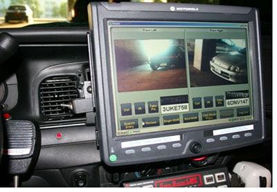Surveillance Equipment Inside A Patrol Car