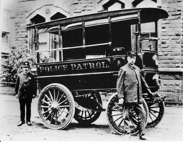 The First Police Patrol Vehicle