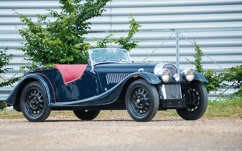 The Morgan 4/4 Front and Side View