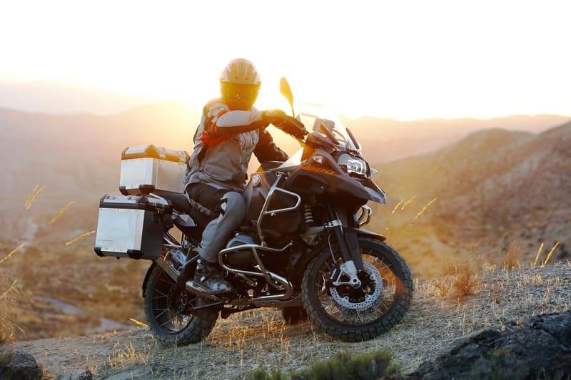 Solo Adventure Motorcycle Rider