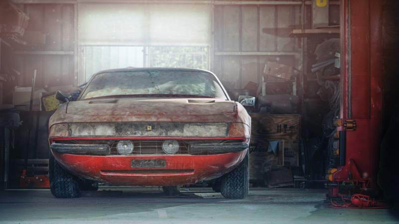 Incredible Barn Find Of The Only Alloy Ferrari Daytona Expected Go for $2 Million