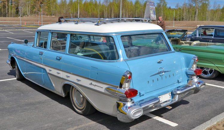Old Pontiac Cars - 1957 Star Chief Custom Safari Transcontinental