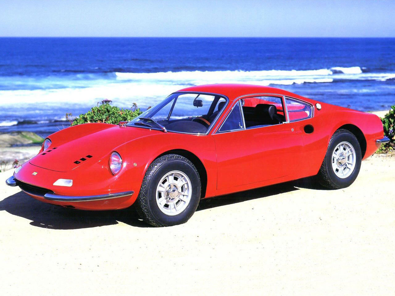 Our list of sexy cars includes the 1968 Ferrari Dino 206GT