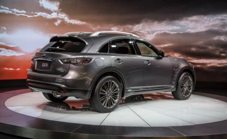 The Infiniti QX70 is a car that will be discontinued after 2018.