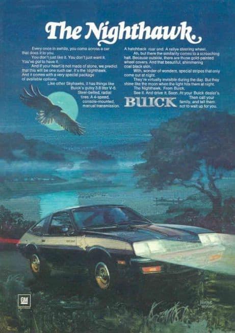 1979-1980 Century Turbo Coupe Advert