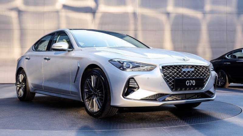 2018 genesis g70 Front Silver