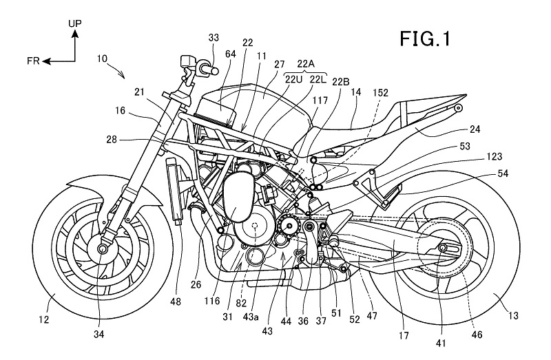 Honda Supercharged V-Twin Patent 1