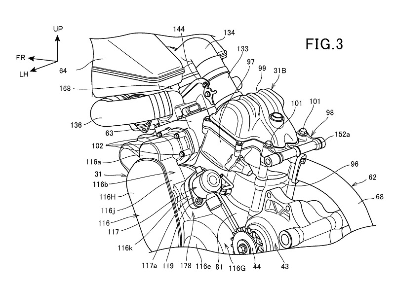 Honda Supercharged V-Twin Patent 4