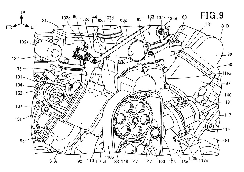 Honda Supercharged V-Twin Patent 7