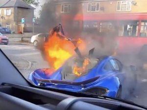 Up Close Photo of McLaren P1 Fire