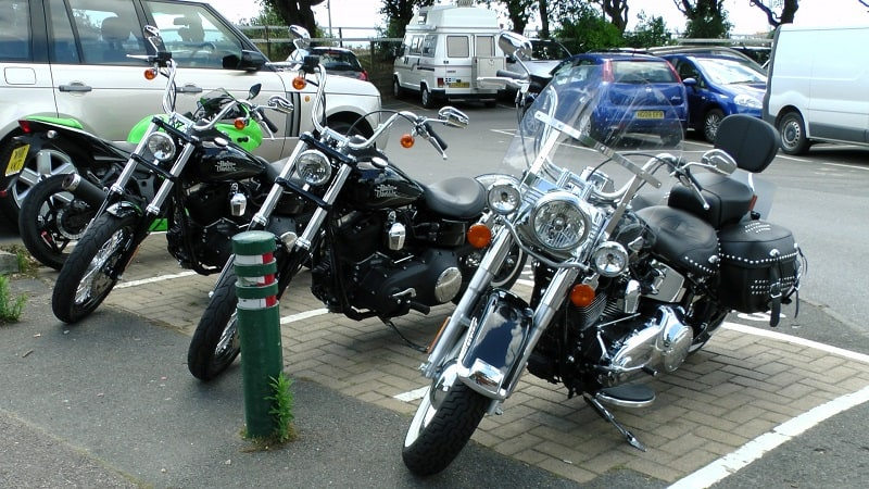 Motorcycles Parked Together