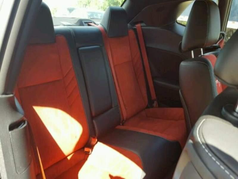 Challenger Hellcat hail damage rear seat