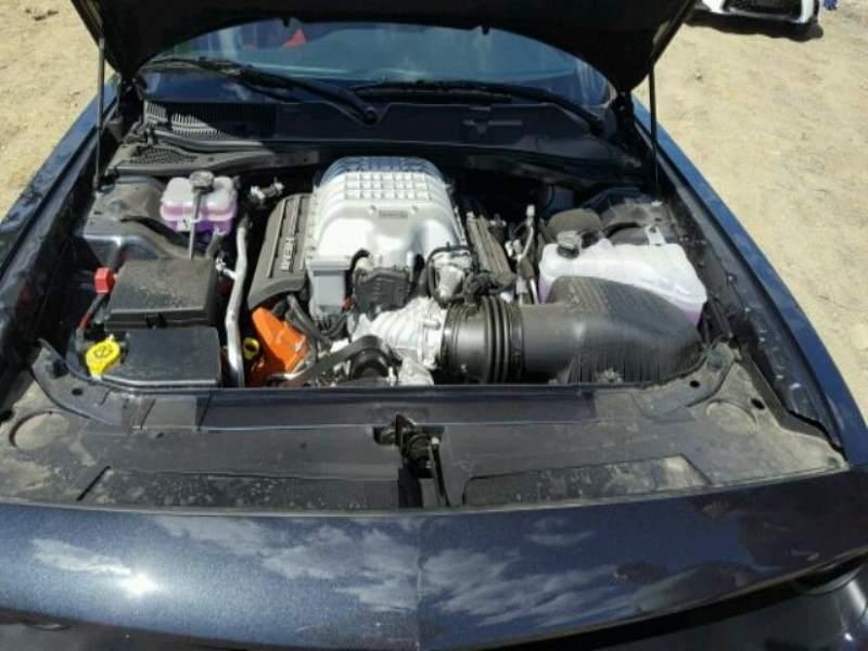 Challenger Hellcat hail damage engine bay