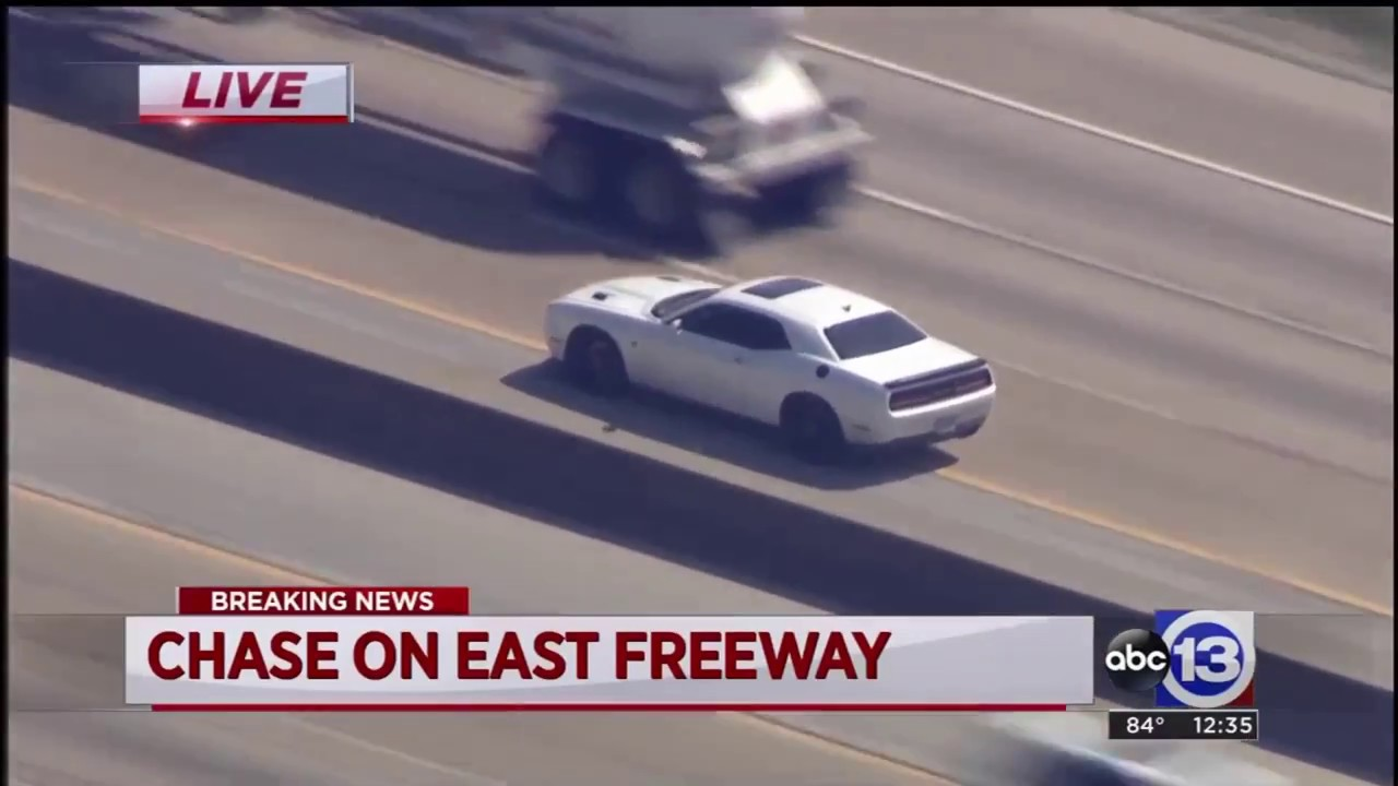 Hot Hellcat Pursuit Along I-10 East in Houston
