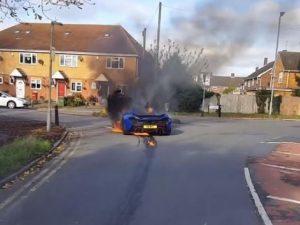 Mysterious McLaren P1 Fire