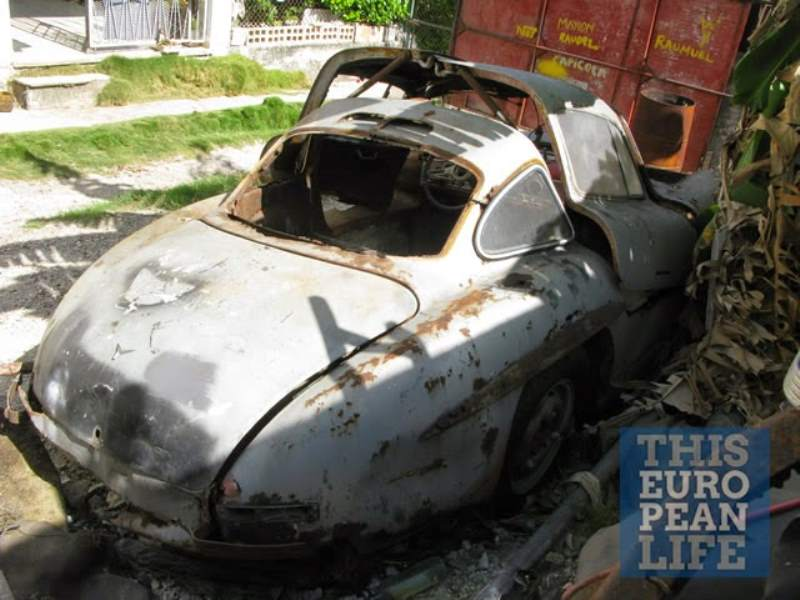 Mercedes-Benz 300SL Cuban Barn Find Rear 3/4