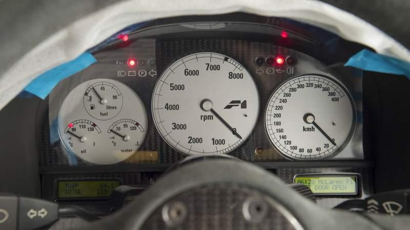 McLaren F1 for sale gauge cluster