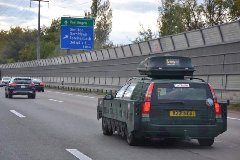 Volvo V70 tank conversion