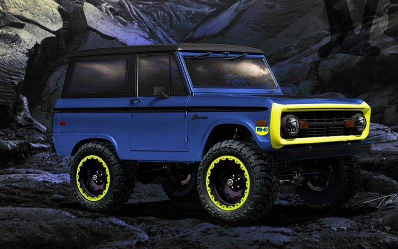1966 ford bronco front 3/4