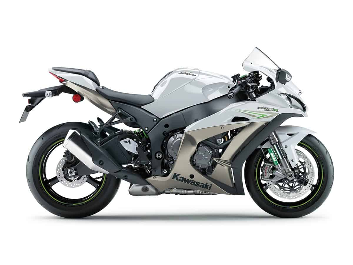 2017 ZX-10R white Side View