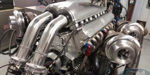 5,000 horsepower motor in Devel Sixteen