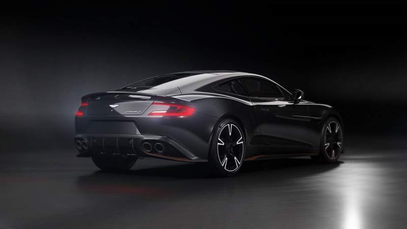 aston martin vanquish blacked out. aston martin vanquish s ultimate rear 34 blacked out a