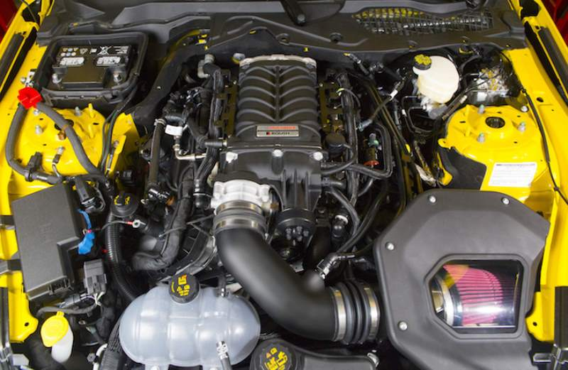 Ford Performance Roush Supercharger in Engine