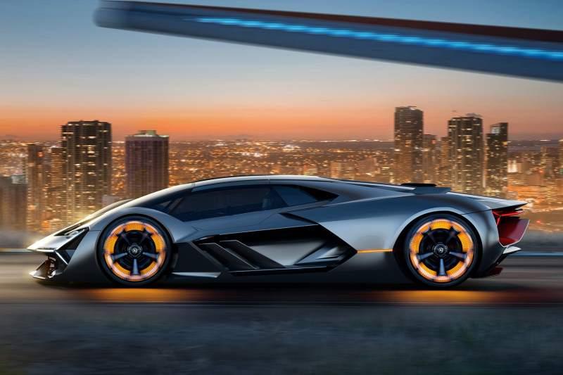 Lamborghini Terzo Millennio Concept Profile Render