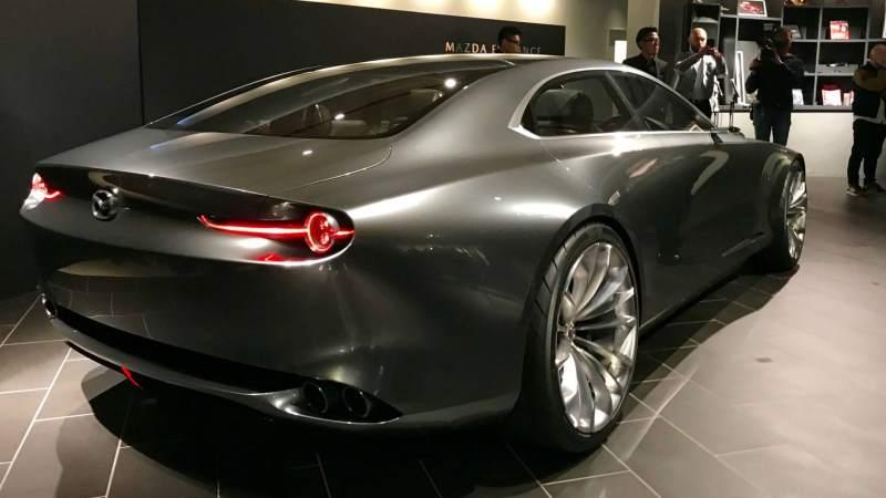 Mazda Vision Coupe Concept Rear 3/4