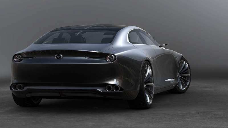 Mazda Vision Coupe Concept Rear 3/4 2
