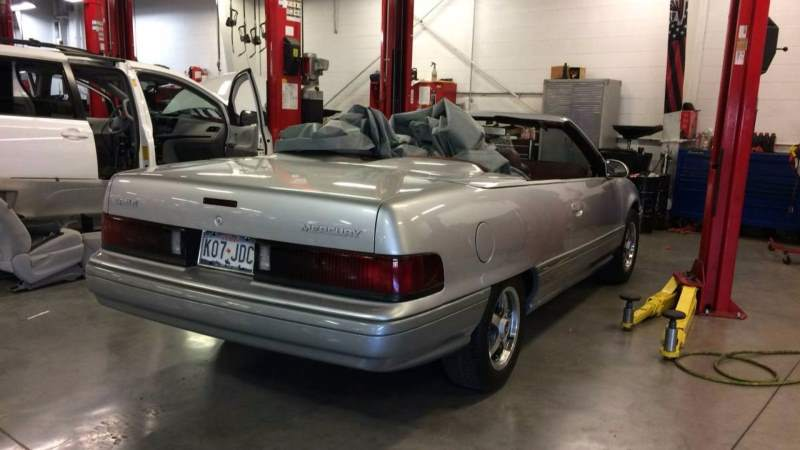 Mercury Sable Convertible Concept Rear in Shop