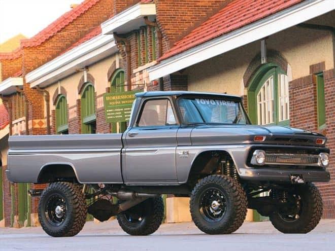 Matt Hughes created a a badass jacked up truck.