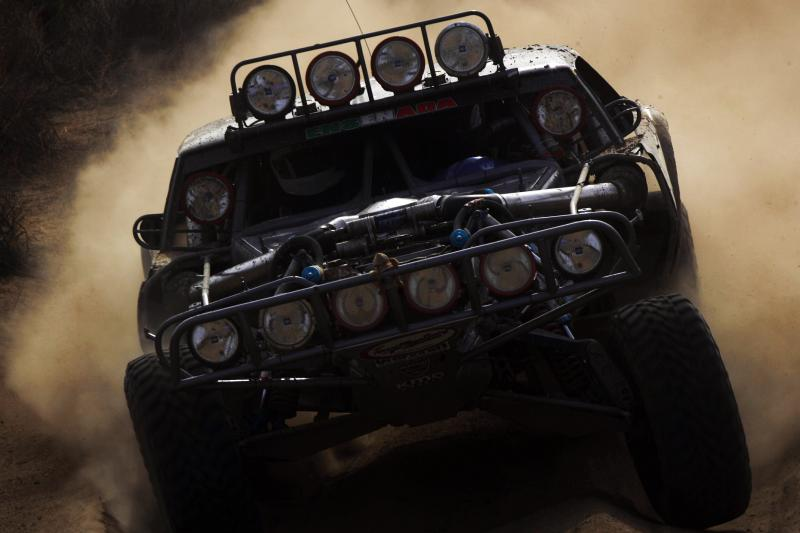 A badass trophy truck can rule the desert.