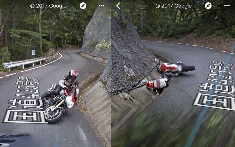 Google Street View Car Motorcycle Crash 2