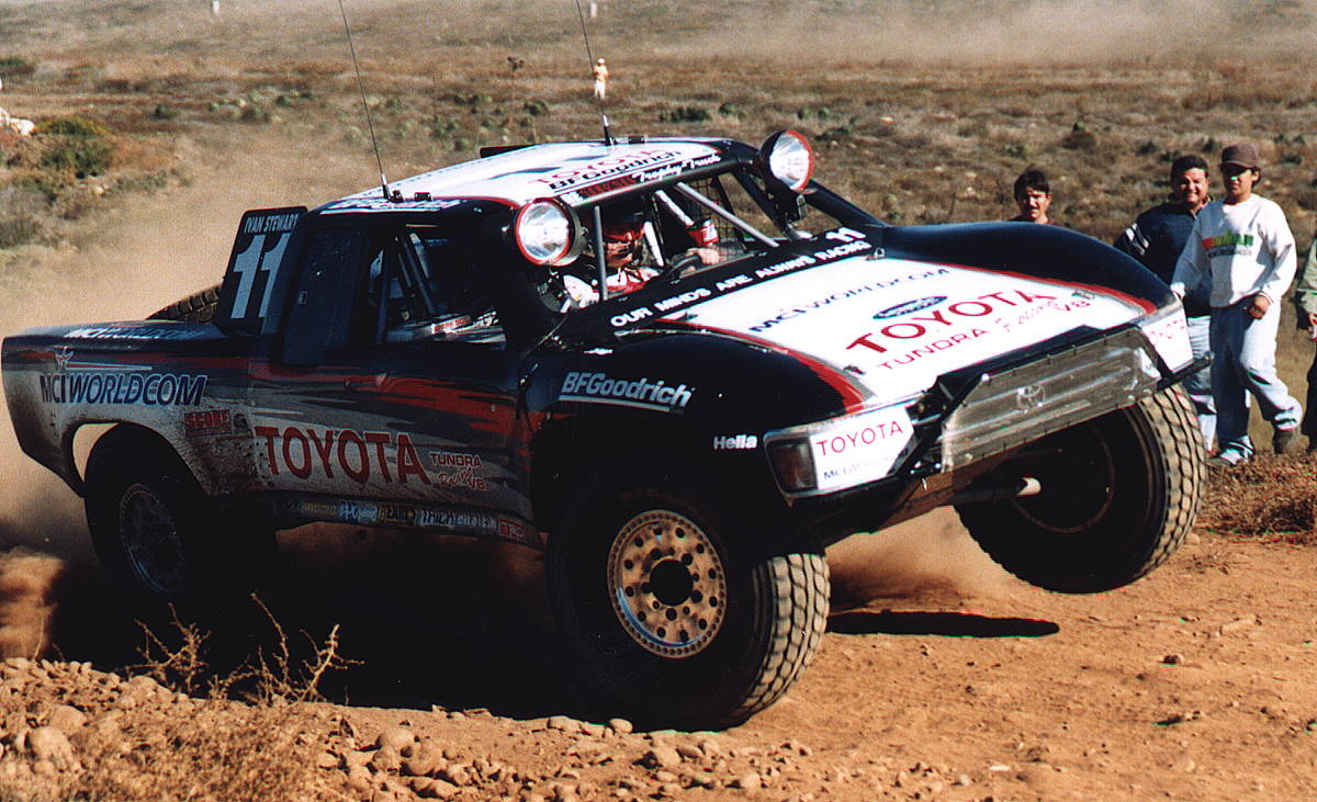 Ivan Ironman Stewart is a legendary trophy truck driver.