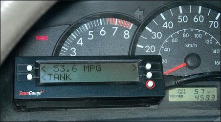 Gas Mileage Meter