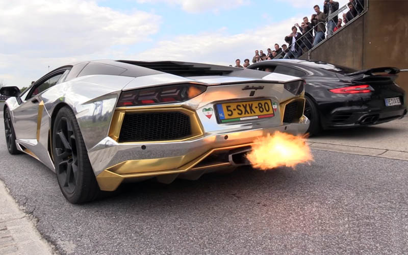 Silver-Wrapped Lamborghini Aventador Couldn't Keep Up With ...