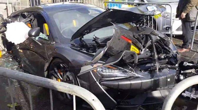 McLaren 570S London crash
