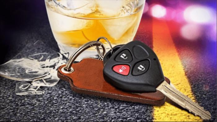 Keys and beverage