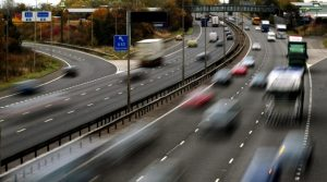 speeding traffic on highway