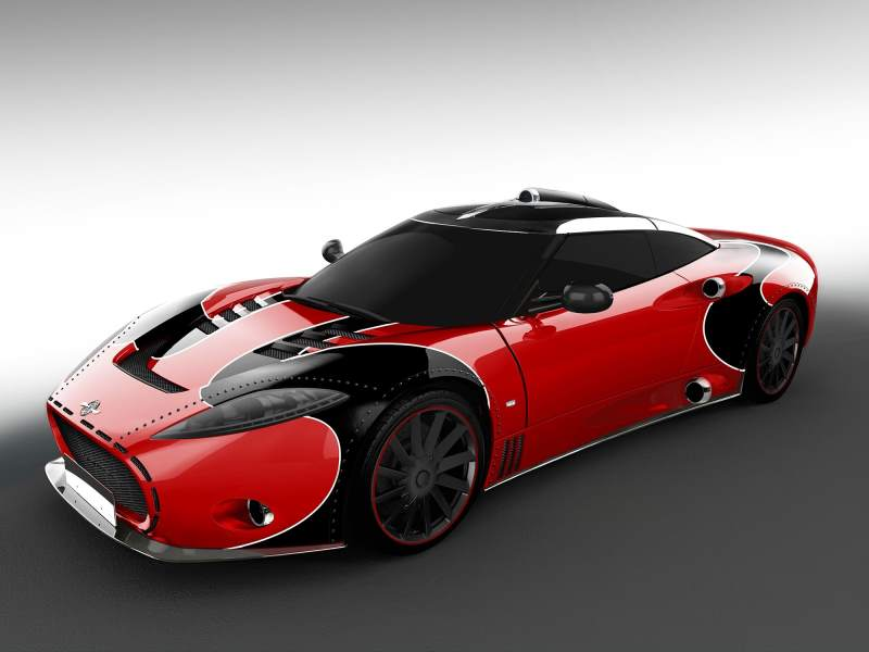 spyker c8 aileron lm85 black and red