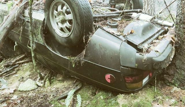 Crashed Porsche Found at Base of Cliff