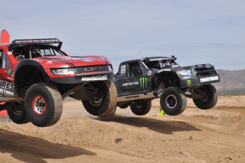 Trucks Racing In The Desert