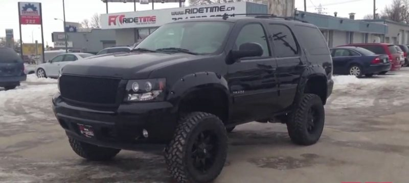 2012 lifted tahoe black canada